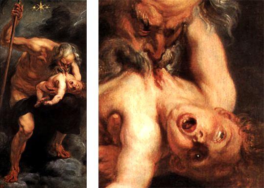 Peter Paul Rubens - Saturne dévorant ses enfants, Madrid, Musée du Prado, 1636.